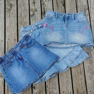 🌾3/$50🌾 Girls denim skirt bundle